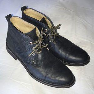 UGG black leather chukka boots size 13 US